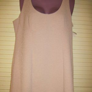 WILD FABLE BEIGE RIBBED SLEEVLESS DRESS IN S-XXL
